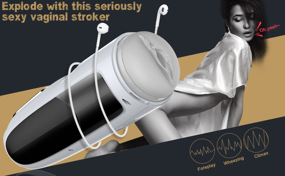 Male Masturbator Automatic Men Masturbation Cup Hands Free-Stroker Texture Sex Toys