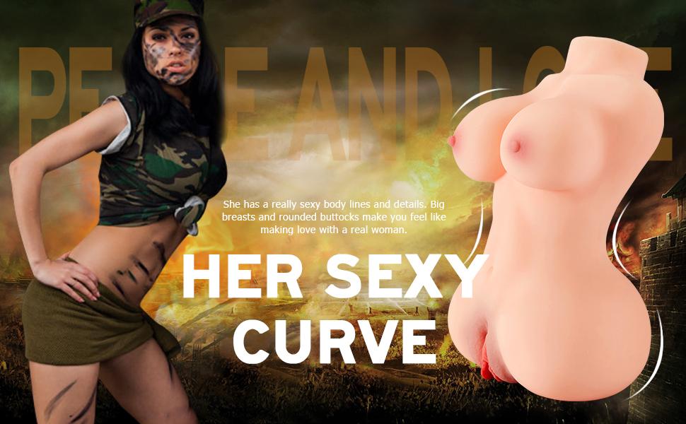 the sexy curves of this male masturbator