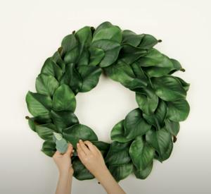 Diy Magnolia Leaf Wreath Kit