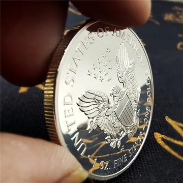 多年份外国银币美国2020自由女神纪念币2021鹰洋币硬币纪念章外币