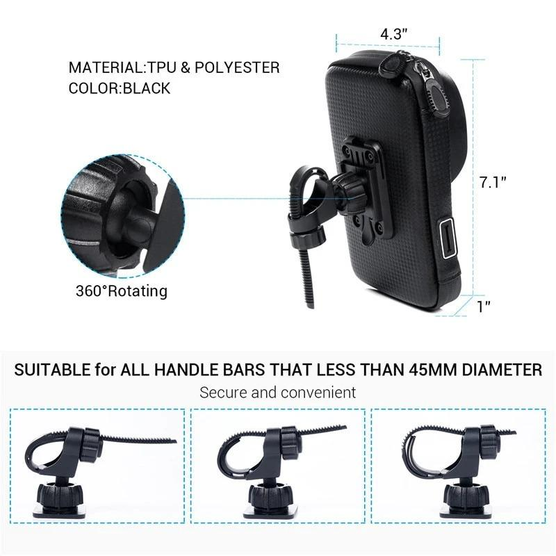 (SUMMER HOT SALE- Save 50% OFF) Waterproof Motorcycle Phone Mount That Fits All Size Phone