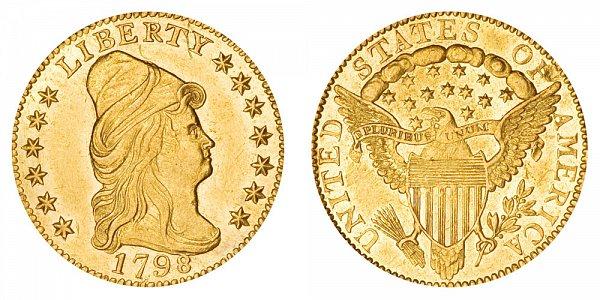 1798 Turban Head $2.50 Gold Quarter Eagle - 2 1/2 Dollars
