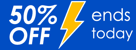 50% OFF ends today